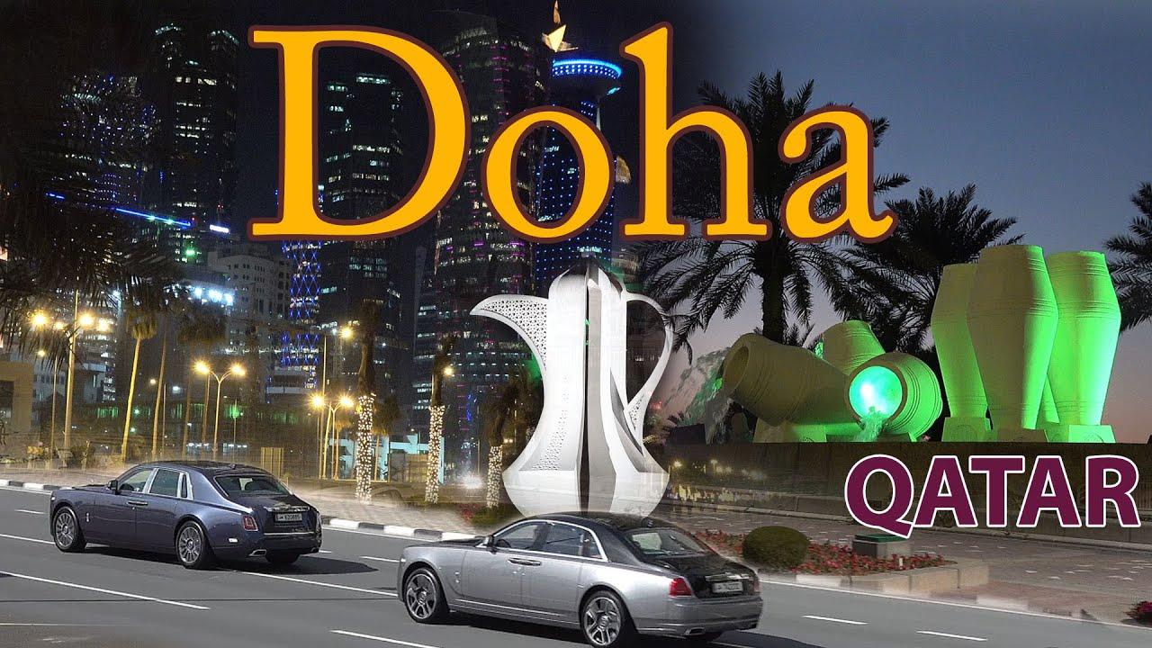 Doha Qatar 4K. Sights, Economy and World Cup 2022