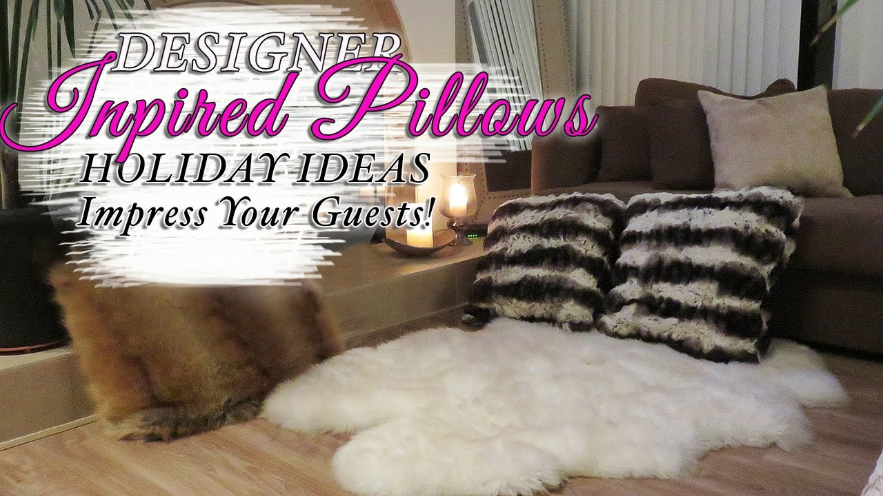Diy Faux Fur Throw Pillow Cushions Christmas Decor Youtube