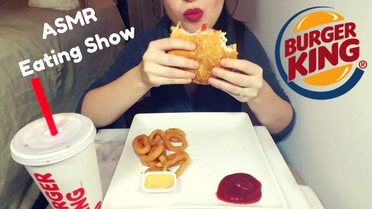 Image result for ASMR Eating Burger King, Onion Rings,