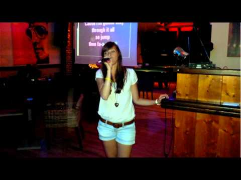 Corfu 2011 - karaoke bar (Sidari) - Unfaithful, No one, The Climb - Martina Černá (cover)