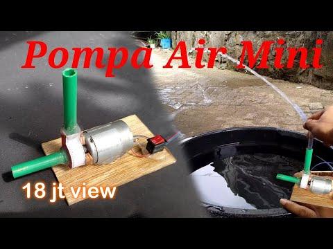 Cara membuat Pompa Air Mini 12v dari bekas kartu hp.