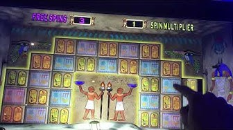 Bonus and live play, £5 max bet on Pharaohs Fortune