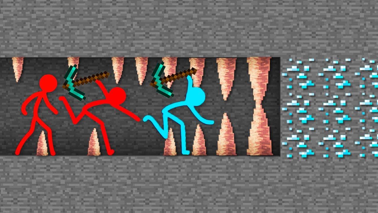 Stickman vs Minecraft (Stickman Figure) ⚡Animation VS Minecraft Shorts stick man Cartoon Movie