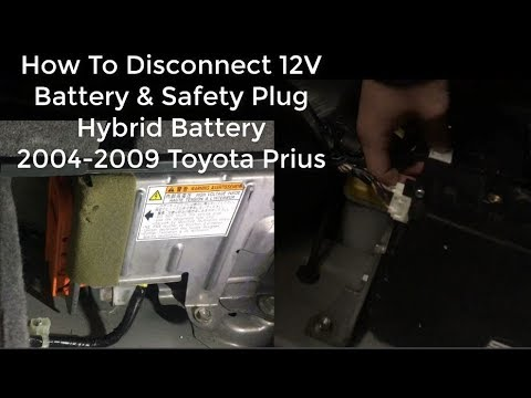 How To Disconnect 12v Battery Remove High Voltage Safety Plug