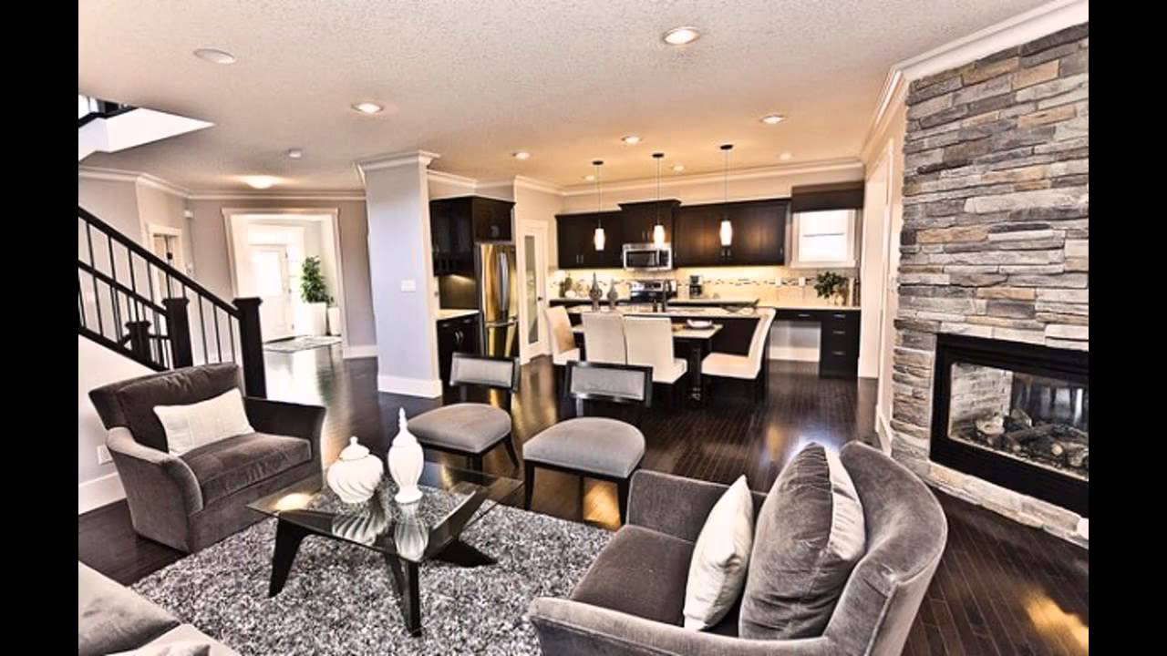 Modern living room and dining room together youtube for Living room and dining room together