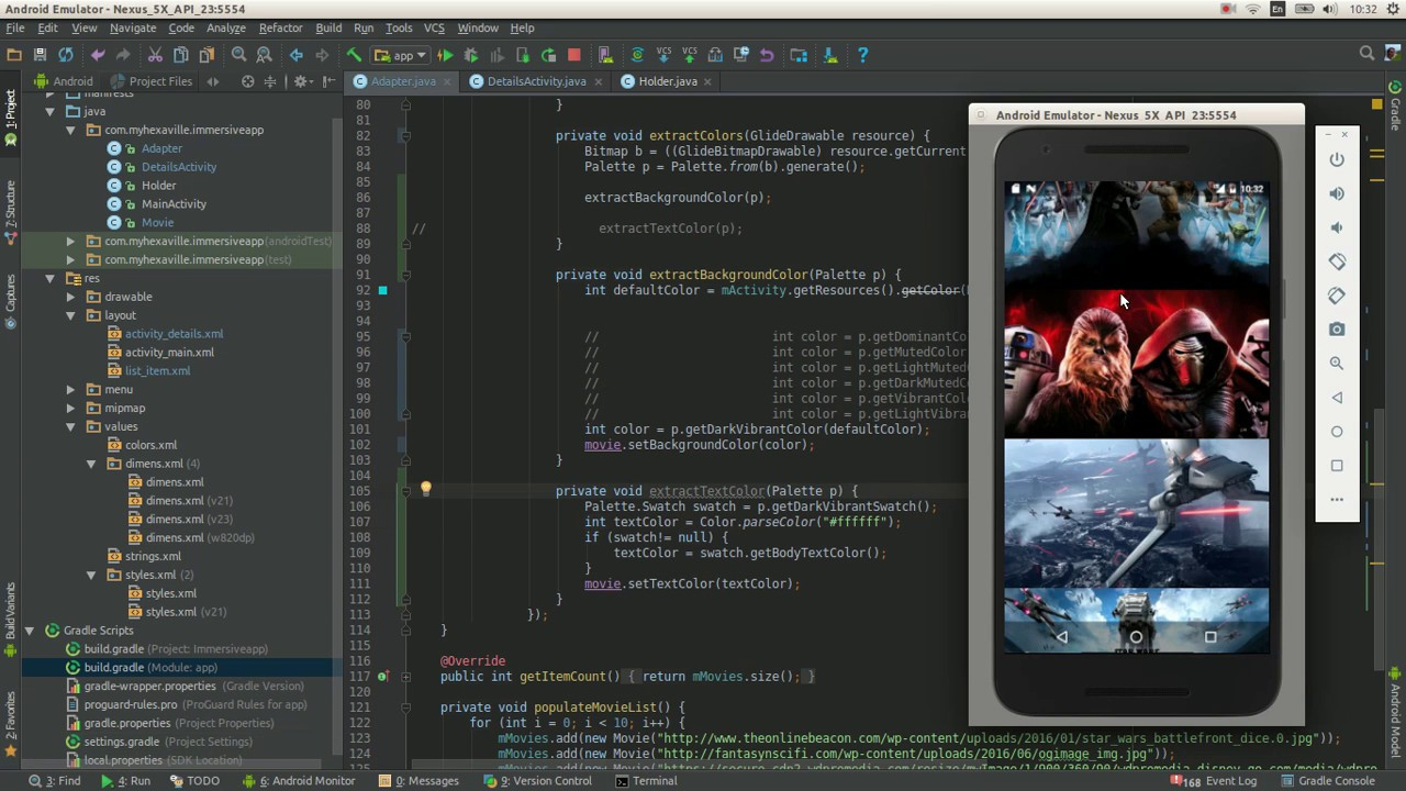 android palette api how to build immersive apps using it