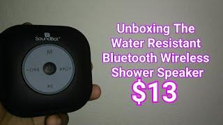 Unboxing The SoundBot SB518FM FM RADIO Water Resistant Bluetooth Wireless Shower Speaker!