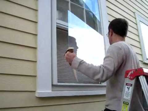Broken Window Pane Replacement: Step #3, measuring and cutting glass