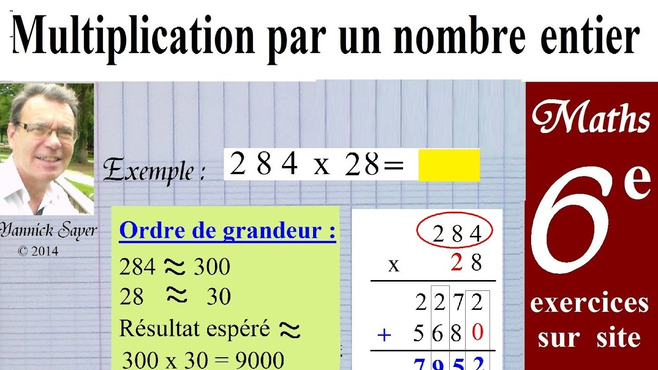 Maths 6ème | Multiplication nombres entiers + exercices ...