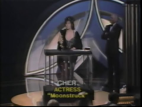 Cher winning Best Actress for Moonstruck