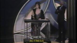 Cher winning Best Actress for Moonstruck