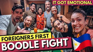 Foreigners FIRST FILIPINO BOODLE FIGHT - EMOTIONAL reaction