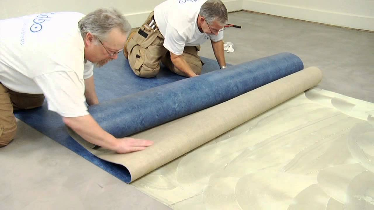 forbo marmoleum sheet installation video youtube. Black Bedroom Furniture Sets. Home Design Ideas