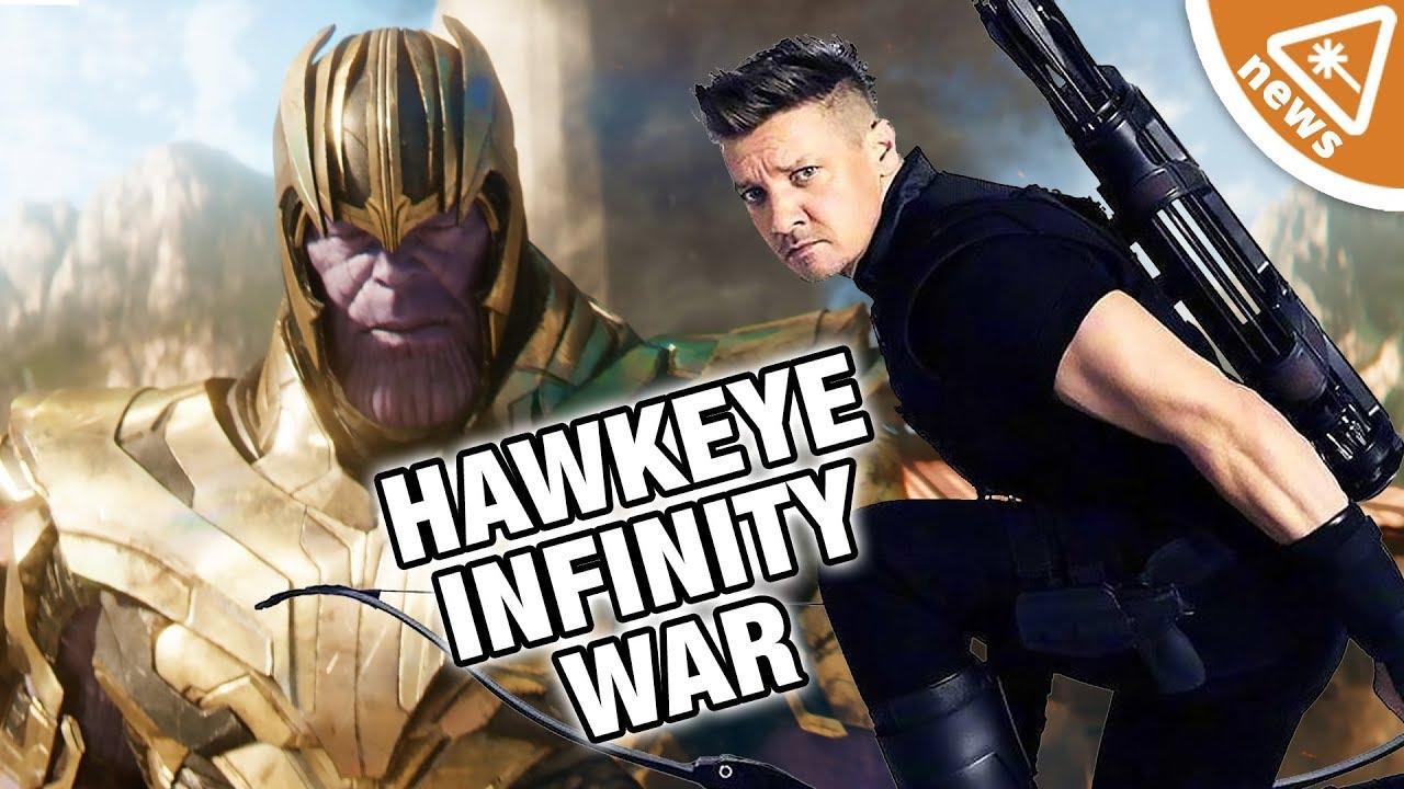 why is hawkeye missing from infinity war? (nerdist news w/ amy