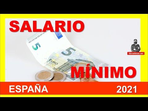 Salario mínimo en España - así quedó para 2021 - 2022