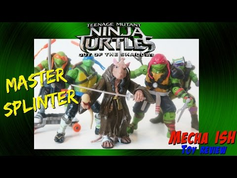 Teenage Mutant Ninja Turtles Out Of The Shadows Movie Splinter Action Figure Toy Review Tmnt 2016 Youtube