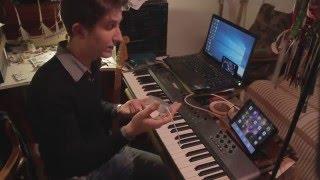 eBay USB Hub + MIDI Keyboard + iPad Mini + GarageBand