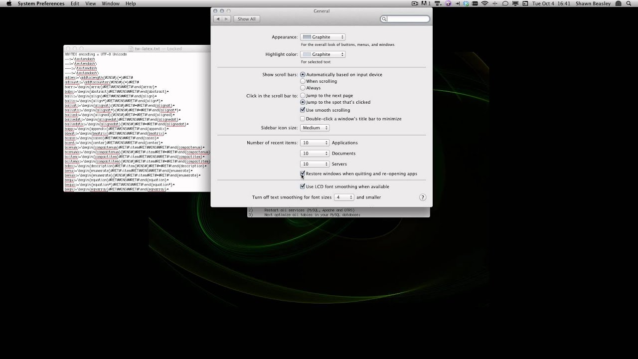 MAC OSX Lion: Making the resume feature selective. - YouTube