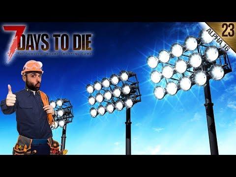 7 DAYS TO DIE A16 #23 | ILUMINACIÓN PRO PARA LA LUCHA | Gameplay Español