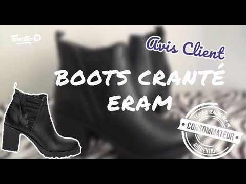 80a3f630259 Avis clients vidéo   Test - Boots noir cranté à talon Eram - YouTube