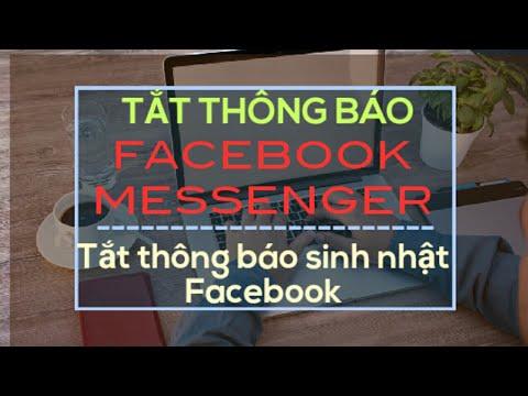 Cách tắt thông báo messenger, tắt thông báo facebook trên điện thoại