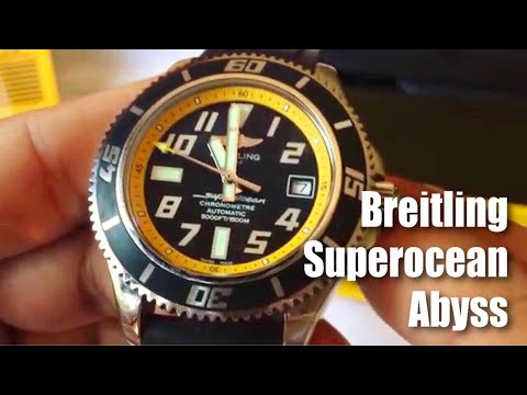 Breitling Superocean Abyss yellow 42mm automatic divers watch review