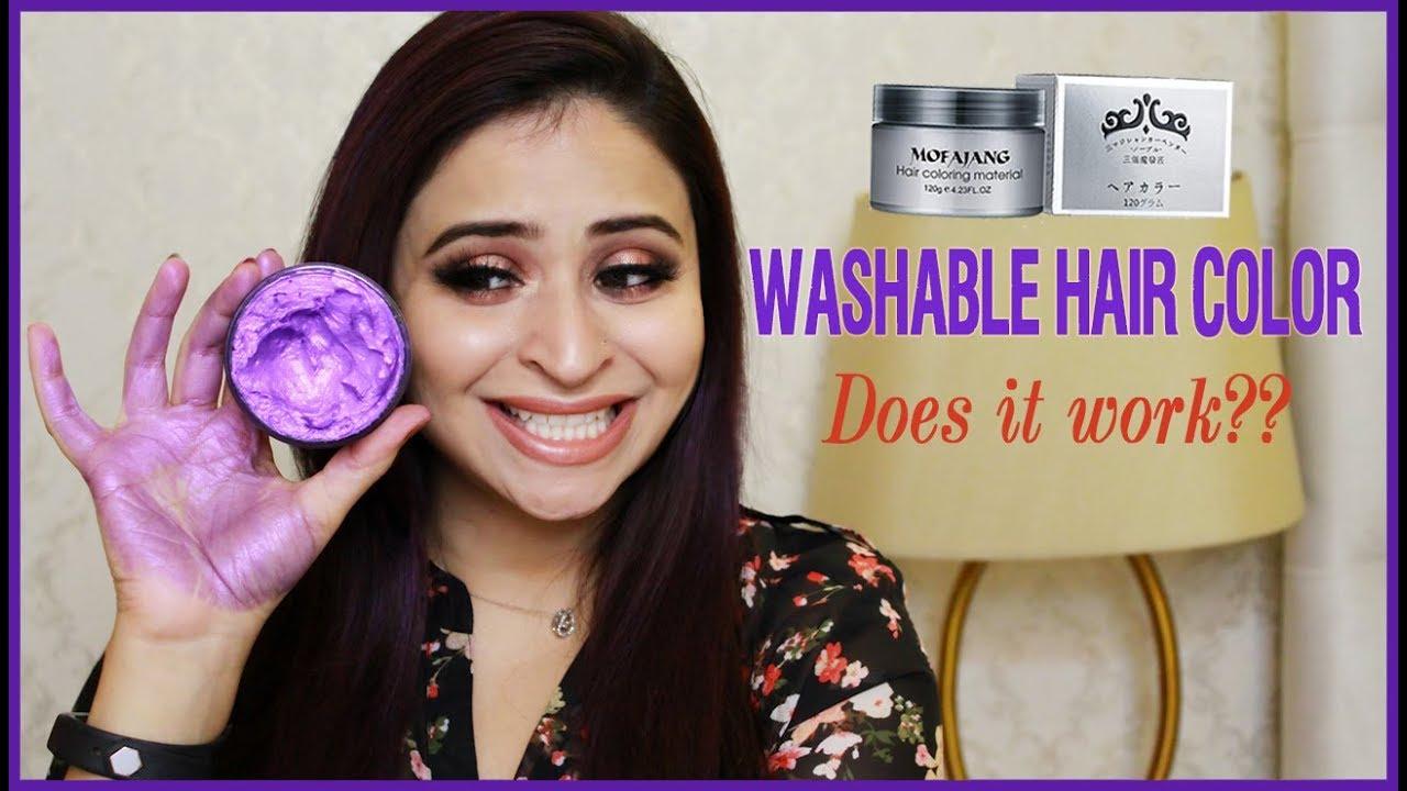 Testing temporary hair coloring mud/material/wax | No Bleaching ...