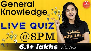 "General Knowledge ""🔴 LIVE Quiz at 8"" by Nabamita ma'am | Play GK Quiz | Vedantu LIVE screenshot 5"