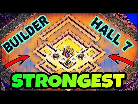 STRONGEST BUILDER HALL 7 BASE LAYOUT W/ REPLAY | BEST BH 7 STRONG BASE IN COC | CLASH OF CLANS