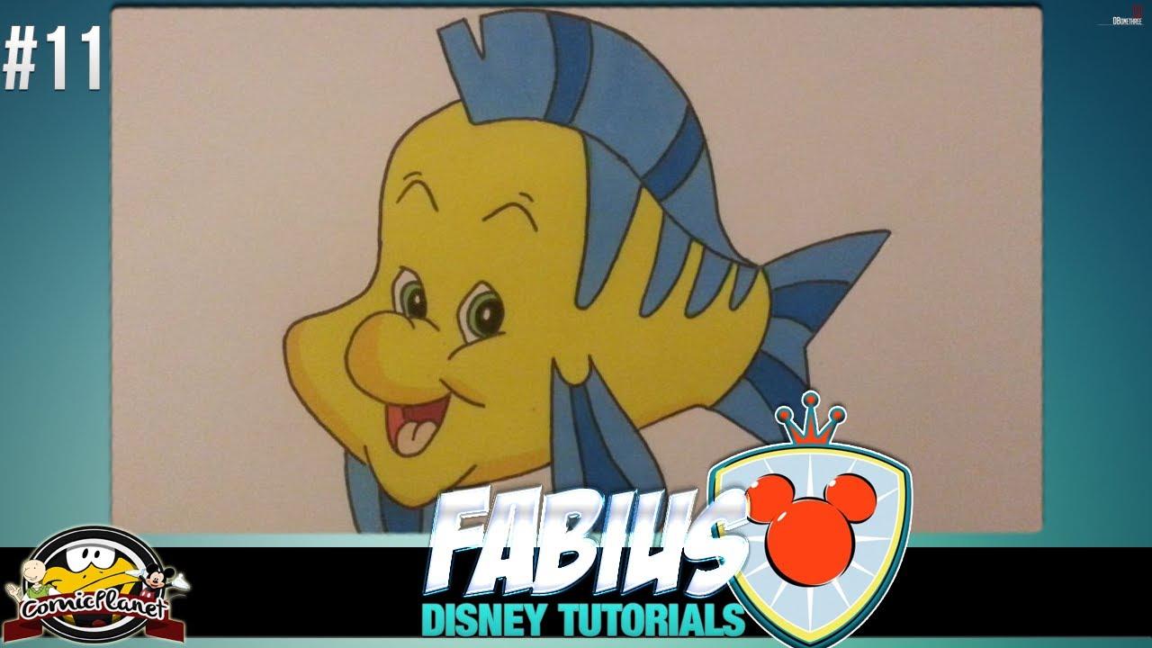 Disney Tutorial Wie Zeichnet Man Den Fisch Fabius Aus Arielle 11