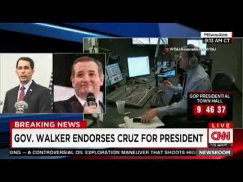Scott Walker Endorses Ted Cruz