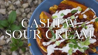 Cashew Sour Cream - Easy (raw?!) Vegan Recipe // Lower Fat Option