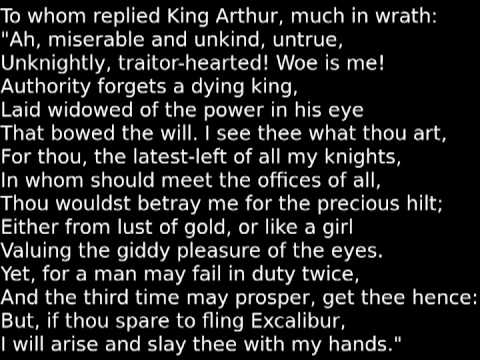"""""""The Passing of Arthur"""" by Tennyson"""