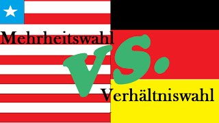 Wahlrecht - Verhältniswahl vs. Mehrheitswahl