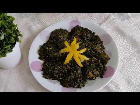 recette-marocaine---epinard-à-la-mauve---الوصفة-المغربية---السبانخ-المغربي