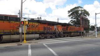 Empty BNSF (CN Crew) coal train at downtown Pekin - Sept. 2, 2013