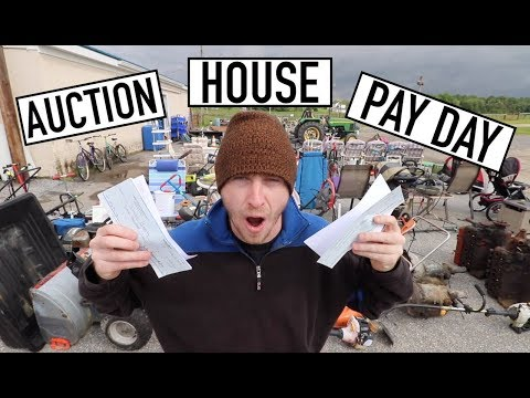 SELLING AT AUCTION HOUSE ISN'T FOR US - Two Checks GUESS How Much?!?!