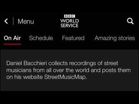 StreetMusicMap Interview @ BBC Outlook - March 15th, 2017