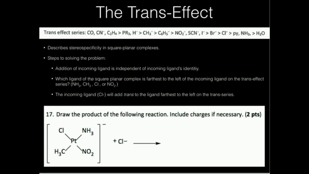 The Trans Effect Example 1