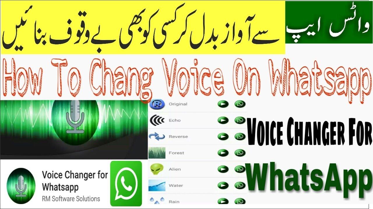 How To Change Voice On Whatsapp Using Voice Changer App?Mobile app se apni  awaaz kaise badaly?