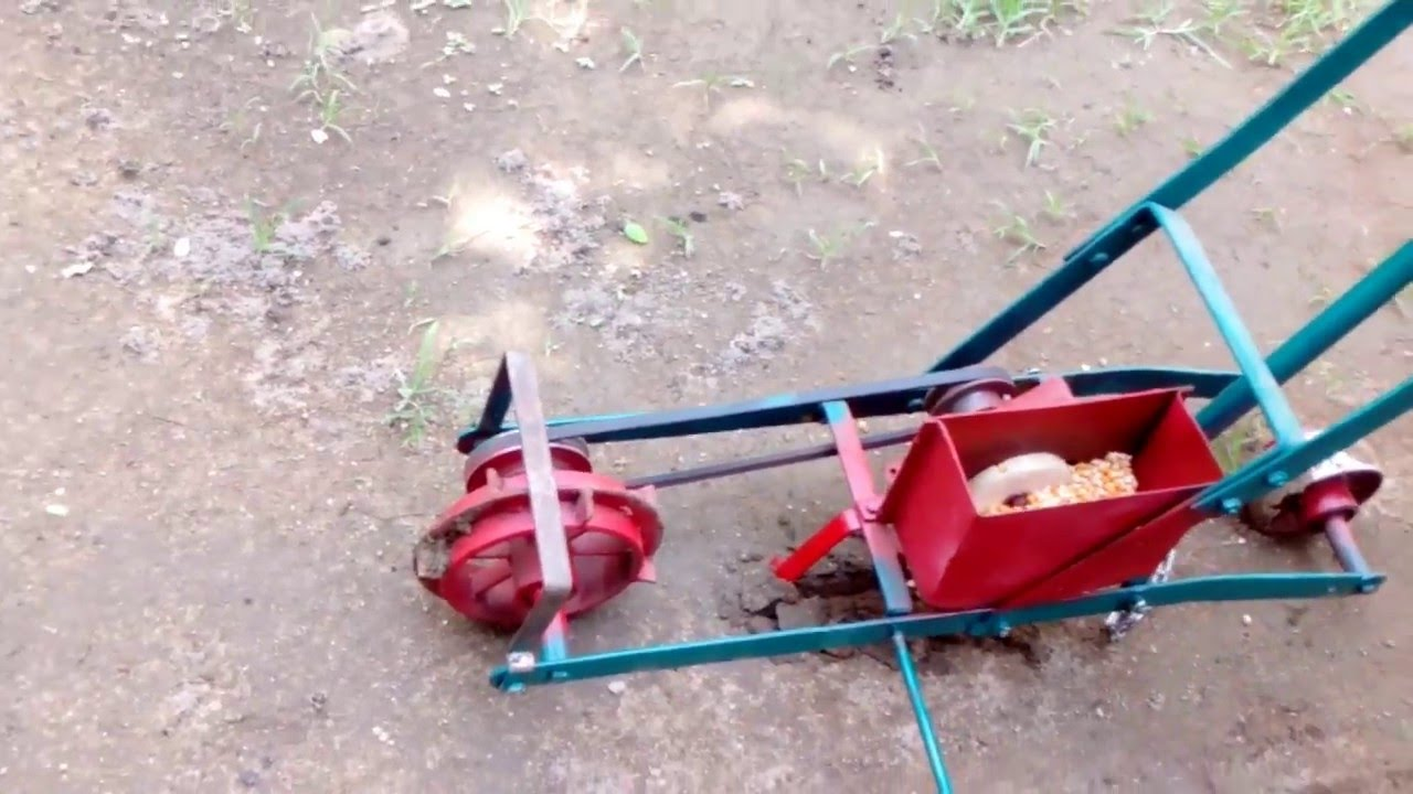 Quot Hand Push Seed Planter Quot Youtube
