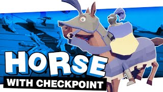 HORSE VS CHECKPOINT AGAIN | TOTALLY ACCURATE BATTLE SIMULATOR