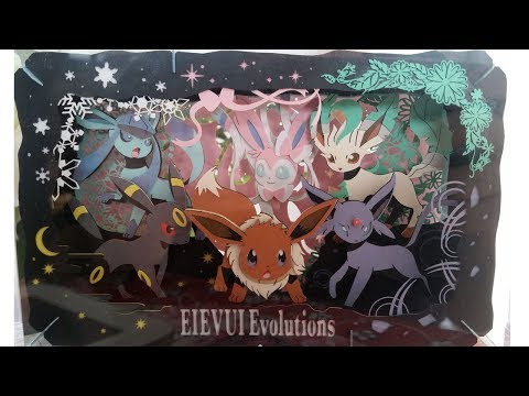 PAPER THEATER - Pokemon PT-L05 Eevee Evolutions - Time Lapse Build