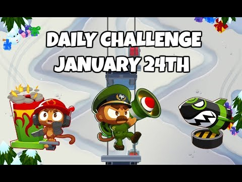 BTD6 - Snow It Up! - Daily Challenge - January 24, 2019
