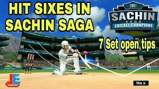 How to Hit sixes in Sachin Saga Cricket Champions 2017,  set 7 open