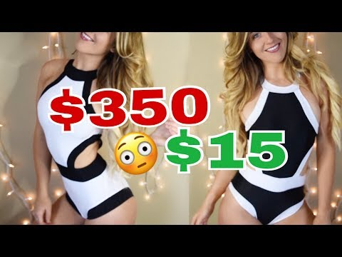 $15 vs $300 Swimsuit // Designer Swimsuit Dupes