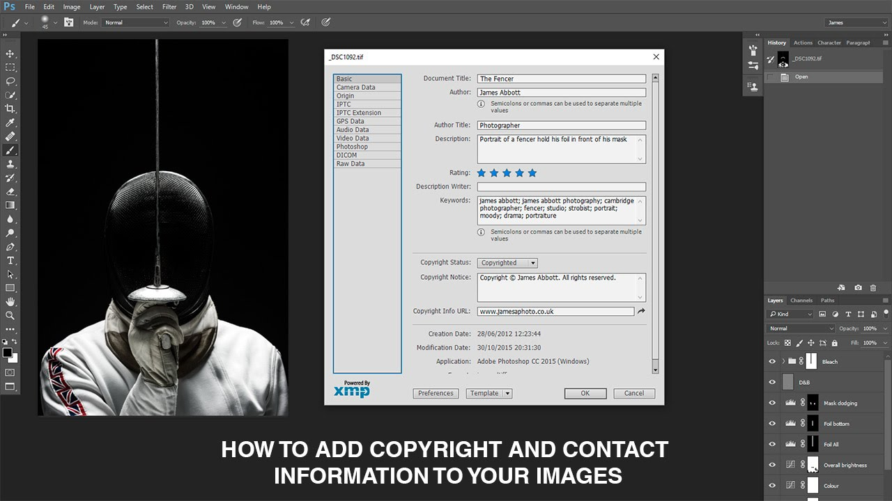 how to copywrite an image