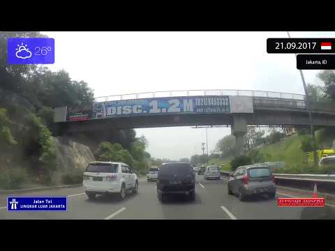 Driving Through Jakarta (Indonesia) Jalan Tol Lingkar Luar Jakarta 21.09.2017 Timelapse X4