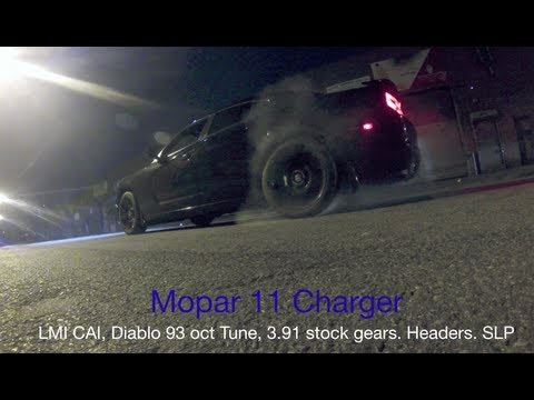 Mopar 11 Charger vs Chrysler 300c vs Magnum RT - (0-70, Burnouts) - (Watch in HD!)
