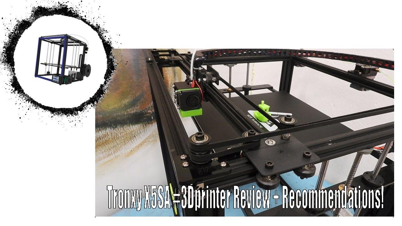 Tronxy X5SA #3Dprinter Review + Recommendations!